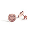 Laughing Face Earrings (Rose Gold) - Chainless Brain