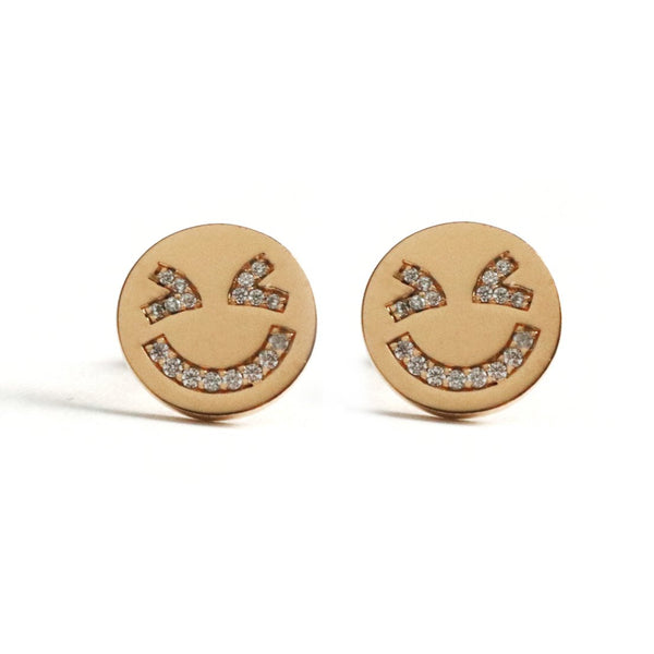 Laughing Face Earrings - Chainless Brain