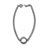 Chainless Brain - Dark Silver Choker Necklace