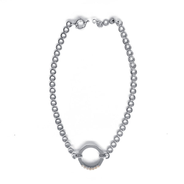Chainless Brain - Silver Choker Necklace