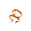 Pearls Bar Ring 18K Rose Gold Plated