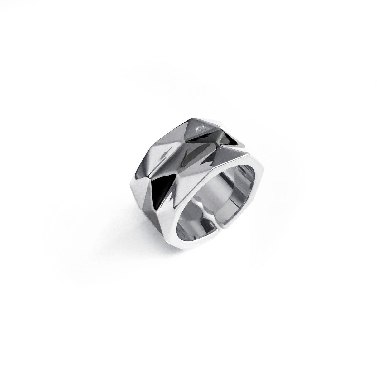Colour Block Facets Ring - Chainless Brain