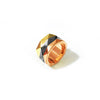 Chainless Brain - Colour Block Facets Ring (Yellow Gold)