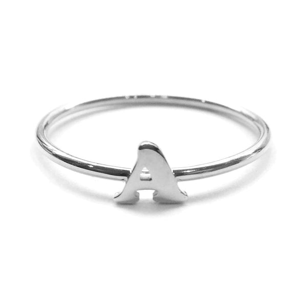 Alphabet Ring A - M (Silver) - Chainless Brain