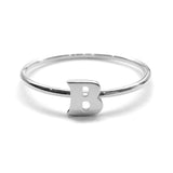 Alphabet Ring A - M (Silver) - Chainless Brain - 2
