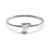 Alphabet Ring A - M (Silver) - Chainless Brain - 6