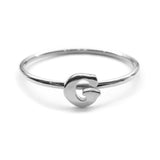 Alphabet Ring A - M (Silver) - Chainless Brain - 7
