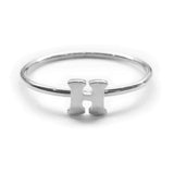 Alphabet Ring A - M (Silver) - Chainless Brain - 8