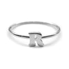 Alphabet Ring N - Z, & (Silver) - Chainless Brain - 6