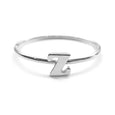 Alphabet Ring N - Z, & (Silver) - Chainless Brain