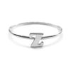 Alphabet Ring N - Z, & (Silver) - Chainless Brain - 14