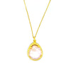 Pearl Necklace (Yellow Gold) - Chainless Brain - 3