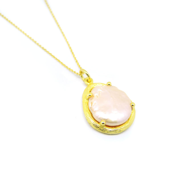 Pearl Necklace (Yellow Gold) - Chainless Brain