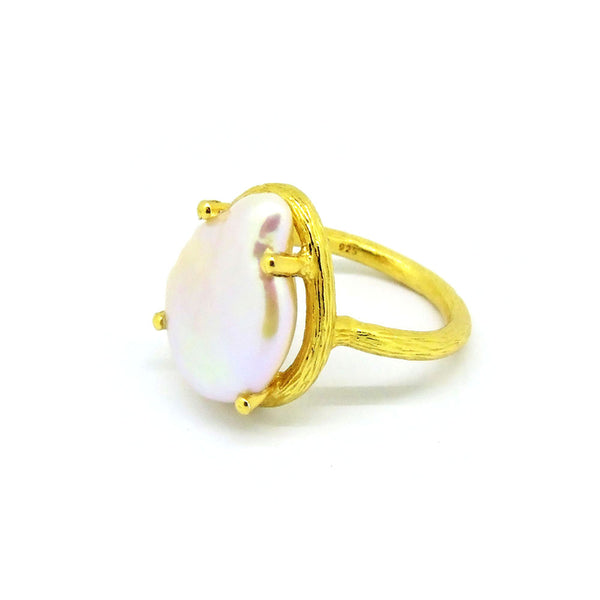 Pearl Ring (Yellow Gold) - Chainless Brain