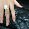 Pearl Ring (Yellow Gold) - Chainless Brain - 4