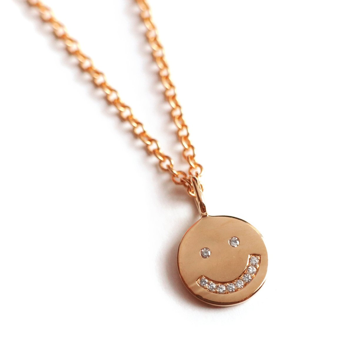 Smiling Face Necklace (Rose Gold) - Chainless Brain