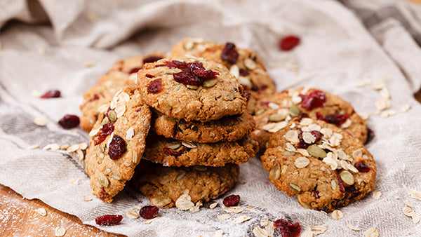 Gluten-free Cranberry Oatbiscuits