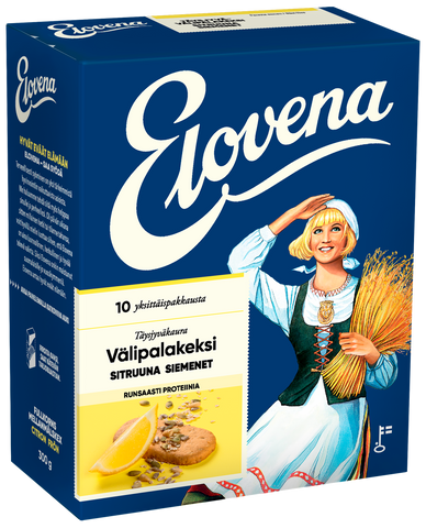 Elovena Plus Lemon & Seeds Snack Biscuit