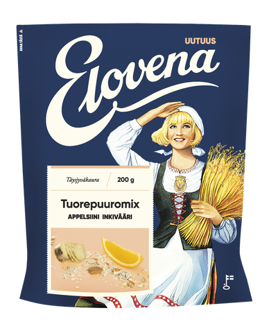Elovena Orange-Ginger Overnight Oats Mix (200g)