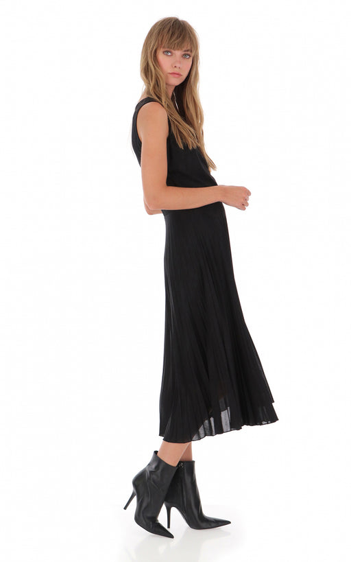 BLACK MID-LENGTH DRESS - justBrazil store