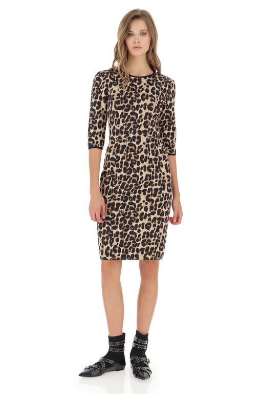 LEOPARD MIDI-DRESS - justBrazil store
