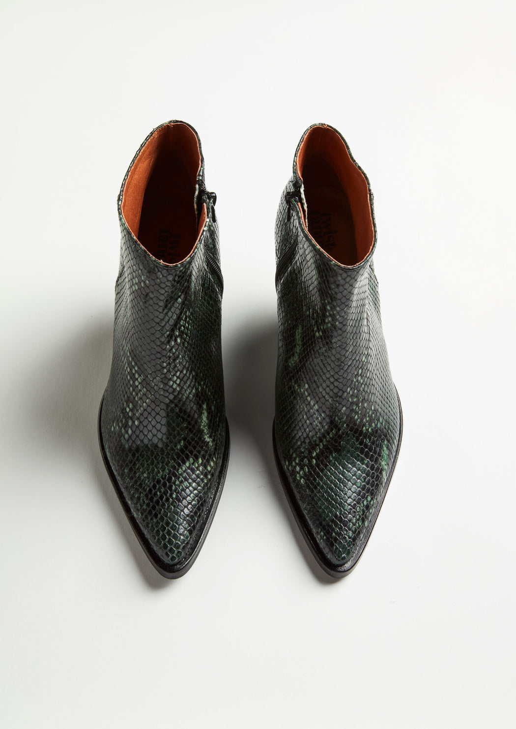 DALLAS GREEN SNAKE BOOTS