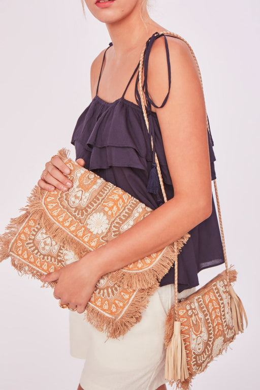 MALIAH EMBROIDERED BAG CREAM
