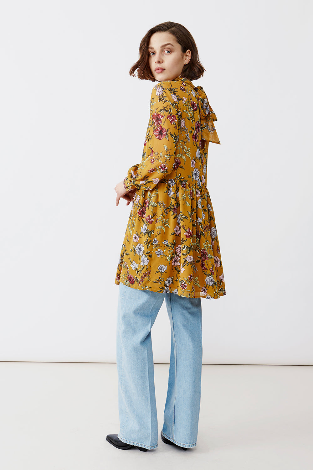 AGNES RUST FLOWER DRESS - justBrazil store