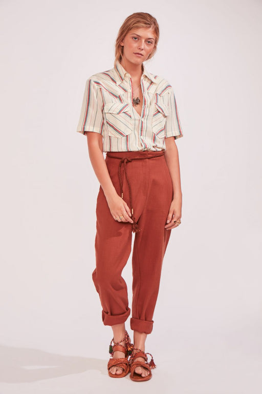 BAY COTTON PANT CAMEL - justBrazil store