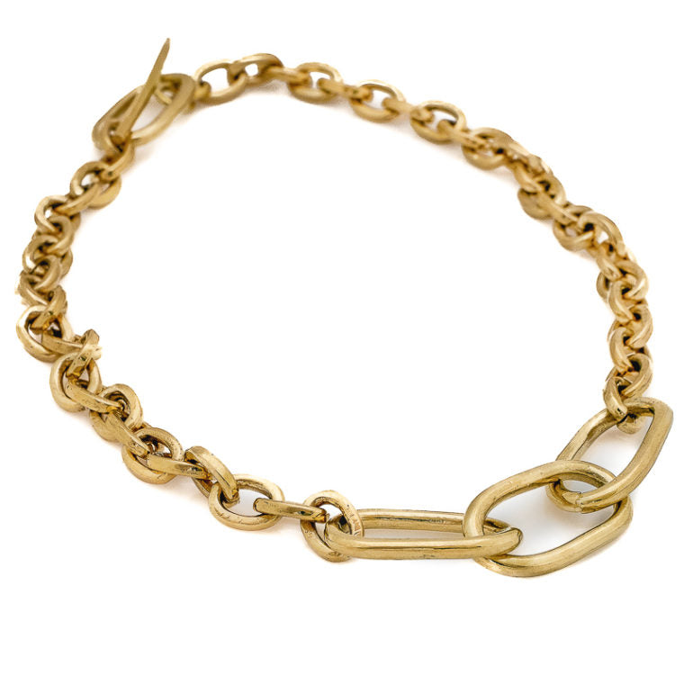 MASSIVE CHAIN GOLD PLATED NECKLACE