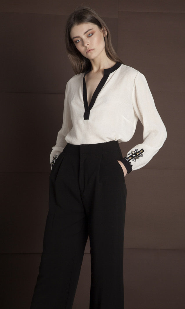 RODIA BLACK TROUSERS