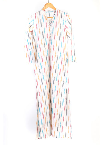 KORINA IKAT WHITE DRESS - justBrazil store