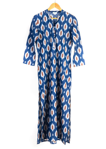 KORINA IKAT BLUE DRESS - justBrazil store