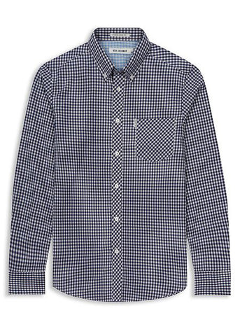 GINGHAM CHECK SLEEVE SHIRT - justBrazil store