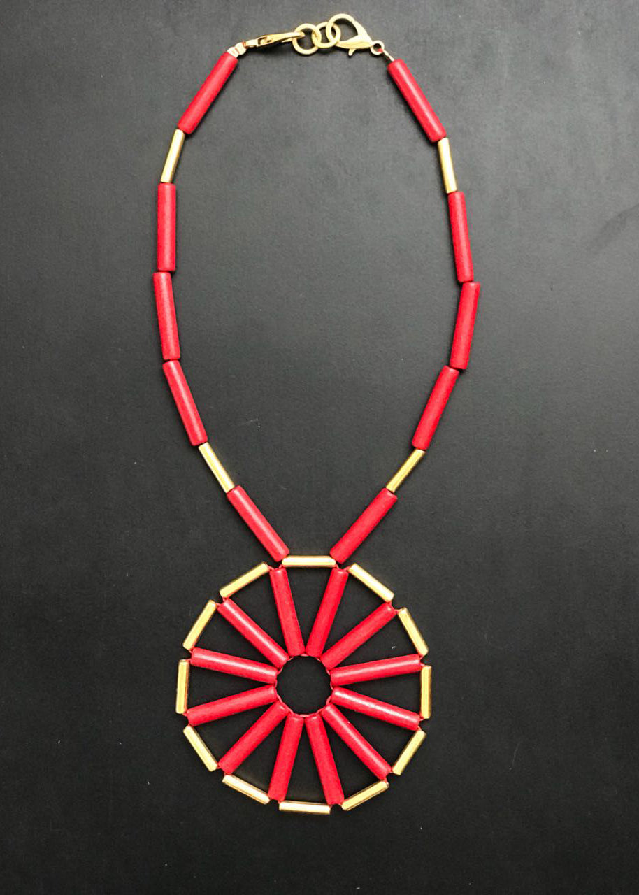DAY-O SHORT RED  NECKLACE - justBrazil store