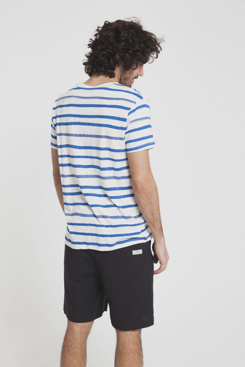 AQUARELA BLUE STRIPES T-SHIRT - justBrazil store