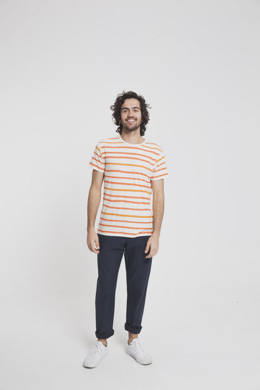 AQUARELA ORANGE STRIPES T-SHIRT - justBrazil store