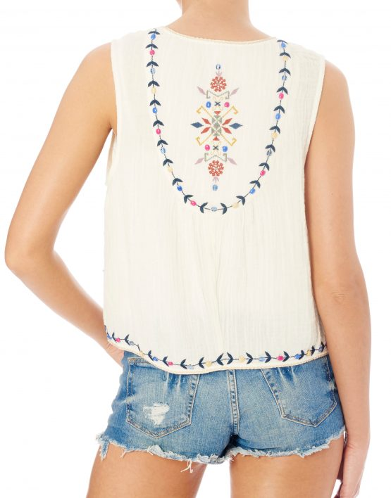 ENA EMBROIDERED WAISTCOAT