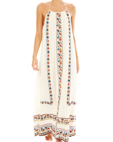 JONI EMBROIDERED MAXI DRESS