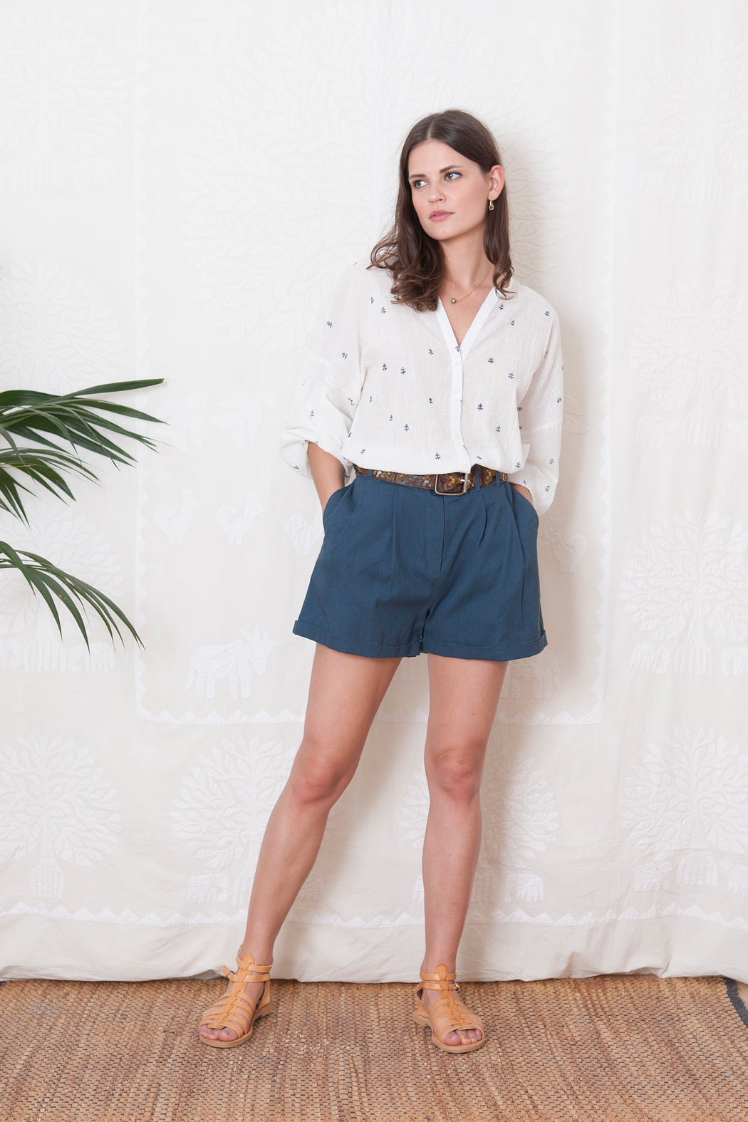 TOULOUSE DARK DENIM SHORTS - justBrazil store