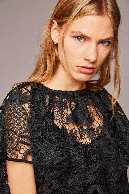 BLACK LACY LACE TOP - justBrazil store