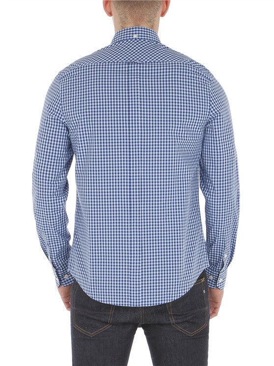 CORE GINGHAM BLUE SHIRT - justBrazil store