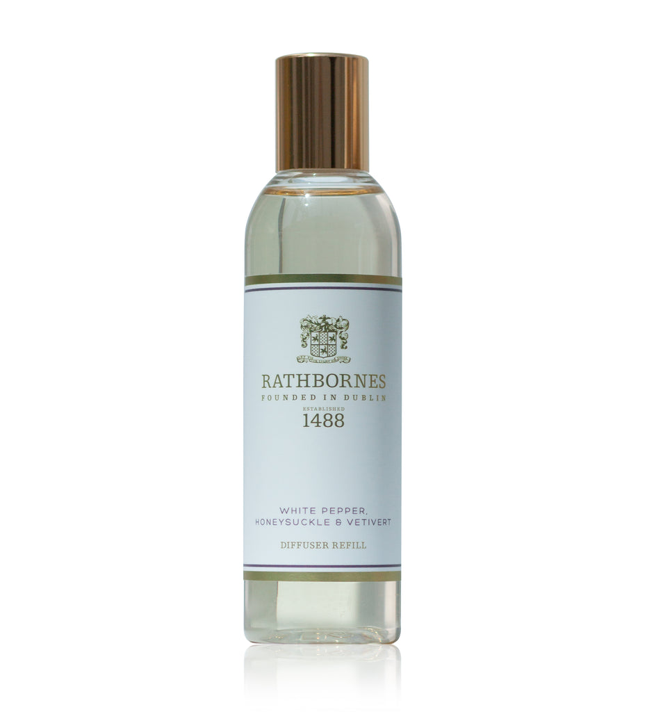 Rathbornes / Beyond The Pale  WHITE PEPPER, HONEYSUCKLE & VERTIVERT SCENTED DIFFUSER REFILL