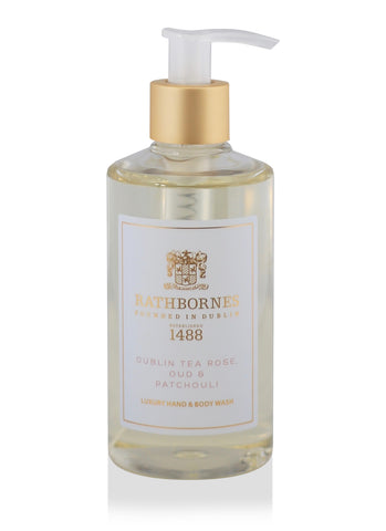 Dublin Tea Rose, Oud & Patchouli Luxury Hand and Body Wash