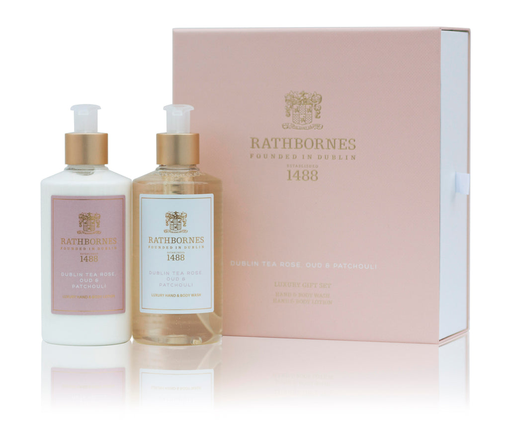 Rathbornes 1488  LUXURY DUBLIN TEA ROSE WASH & LOTION GIFT SET