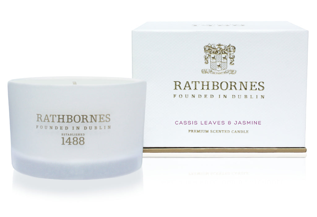 Rathbornes / Beyond The Pale  CASSIS LEAVES & JASMINE SCENTED TRAVEL CANDLE