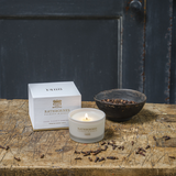 Cedar, Cloves & Ambergris Scented Travel Candle