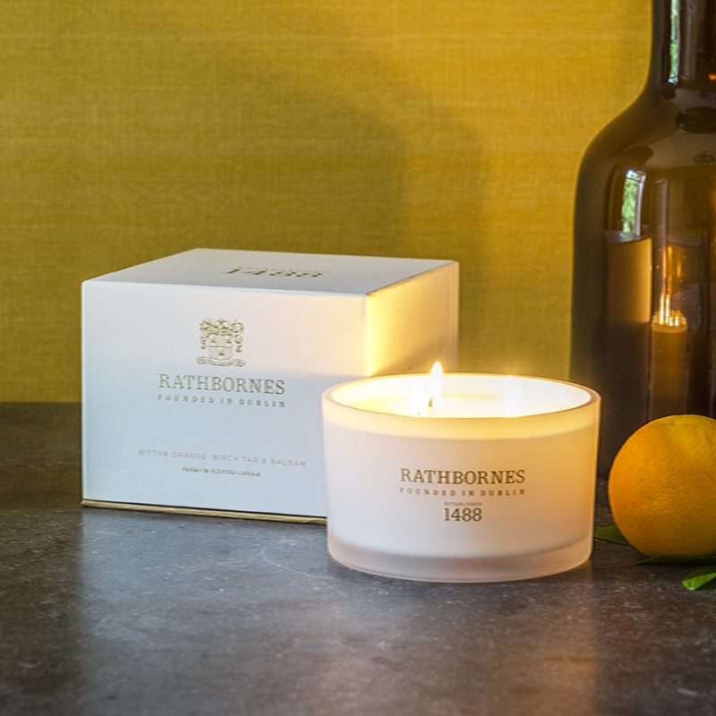 Bitter Orange, Birch Tar & Balsam Scented Luxury Candle