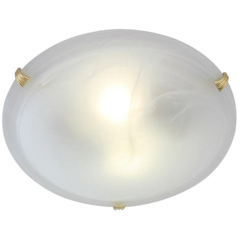 Ceiling Fitting Small ES 2 X 60W Polish Brass