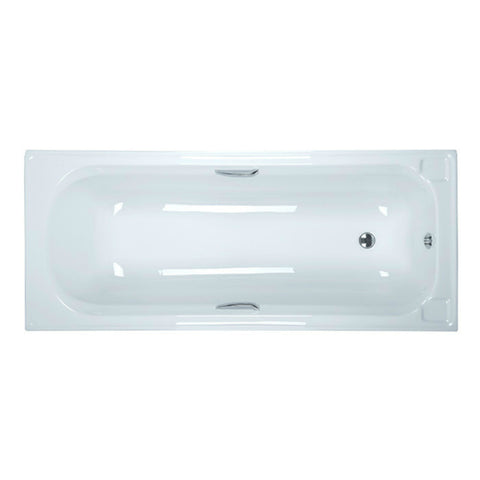 Bath with Handles White 1.7m